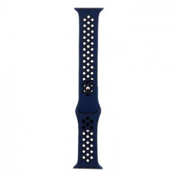 Tactical 133 Double Silikonový Řemínek pro iWatch 1/2/3 42mm Blue/Black (EU Blister)